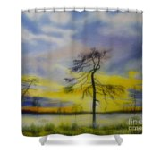 Early Summer Morning Shower Curtain