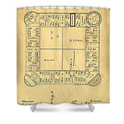 Early Version Of Monopoly Board Game Patent Shower Curtain
