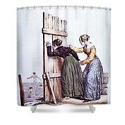 Early Victorian Peeping Women Shower Curtain