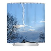 Early Winter Morning. Smoking Clouds Shower Curtain
