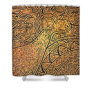 Earth And Sun Shower Curtain