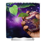 Earth Apple Shower Curtain