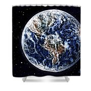 Earth Beauty Original Acrylic Painting Shower Curtain