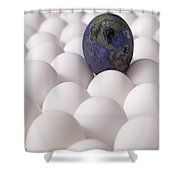 Earth Egg Pollution Shower Curtain