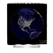 Earth Globe Lights Shower Curtain