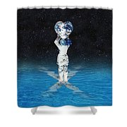 Earth Heart Holder Shower Curtain
