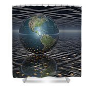Earth Horizons Shower Curtain