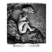 Earth Is My Birth Shower Curtain by Stelios Kleanthous