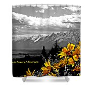 Earth Laughs In Flowers Shower Curtain by Dan Sproul
