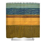 Earth Layers Abstract L Shower Curtain