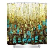 Abstract Geometric Mid Century Modern Art Shower Curtain