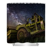 Earth Mover Shower Curtain