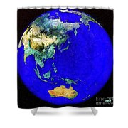 Earth Seen From Space Australia And Azia Shower Curtain