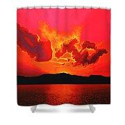 Earth Sunset Shower Curtain