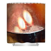 Earth Tone Art - Warmth By Sharon Cummings Shower Curtain by Sharon Cummings