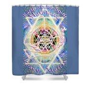 Earth Water Spirit Madonna Peace Matrix Shower Curtain