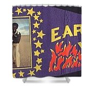 Earth Wind Fire Pennant 1970s Shower Curtain