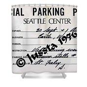 Earth Wind Fire Seattle Parking Permit Shower Curtain