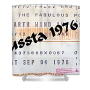 Earth Wind Fire Spirit Tour The Forum Concert Ticket Shower Curtain