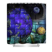 Earthday 2014- The View From On High Shower Curtain