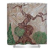 Earthen Tree Shower Curtain