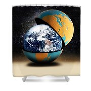 Earths Protective Cover Shower Curtain
