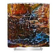 Earthy Abstract Shower Curtain