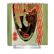 Earthy Woman Shower Curtain