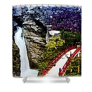 East And West Collage Shower Curtain