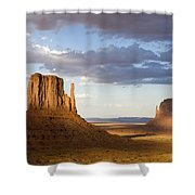 East And West Mittens Monument Valley Shower Curtain