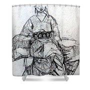East Asian Woman Shower Curtain