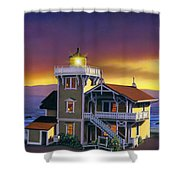 East Brother Lighthouse Shower Curtain