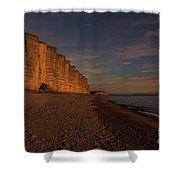 East Cliff Sunset Dorset Shower Curtain