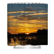 East Coast Sunset Shower Curtain