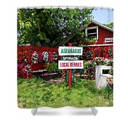 East End Farmstand Shower Curtain