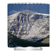 1m3743-east Face Mt. Kitchener With Cloud Shower Curtain