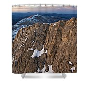 East From Mt. Evans Shower Curtain