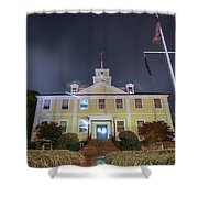 East Greenwich Town House At Night Shower Curtain