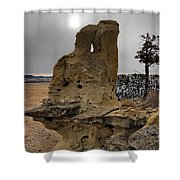 East Montana Formations Shower Curtain