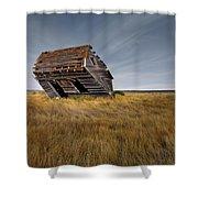 East Montana Texture Shower Curtain
