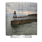 East Pier Whitby Shower Curtain