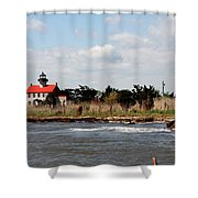 East Point Lighthouse II Shower Curtain