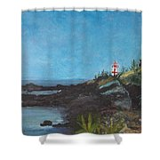 East Quoddy Head Lighthouse Shower Curtain