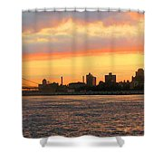 East River At Sunrise Shower Curtain