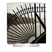 East River Spoke - New York City Shower Curtain
