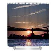 East River Sunrise - New York City Shower Curtain