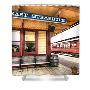 East Strasburg Station Shower Curtain