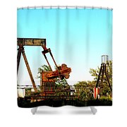 East Texas Oil Field Shower Curtain