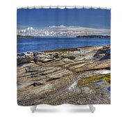East To Mistaken Island Shower Curtain