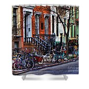 East Village Bicycles Shower Curtain